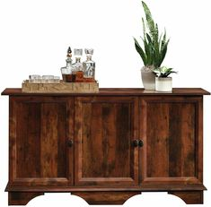 Find farmhouse cabinets, modern cabinets, rustic antique cabinets, industrial cabinets, and more at Farmhouse Goals! Large Storage Cabinets, Door Storage, Drawer Storage, Sideboard Cabinet, Cabinet Doors, Credenza Wood, Kitchen Buffet Cabinet, Cupboard, Vintage Buffet