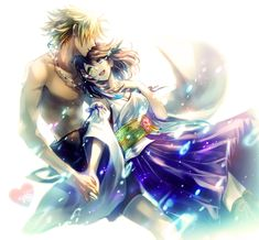 Tidus & Yuna wow this is probably the best fan art i've seen of these two!