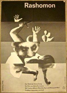 『羅生門』lefeufillet: Hans Hillmann's poster for Rashomon (Akira Kurosawa, Gfx Design, Design Art, Graphic Design Posters, Graphic Design Inspiration, Zine, Japanese Film, Japanese Poster, Cinema Posters, Movie Poster Art