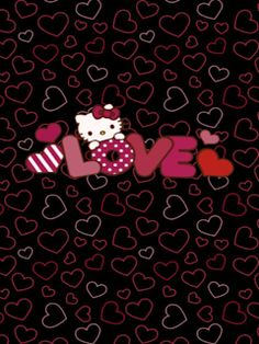 Hello Kitty Iphone Wallpaper, Wallpaper Iphone Love, Hello Kitty Backgrounds, Trendy Wallpaper, Cute Wallpapers, Valentine Wallpaper, Emo Wallpaper, Hello Kitty Clipart, Hello Kitty Themes