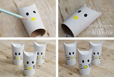 Simple Hello Kitty Craft Using Toilet Paper Rolls