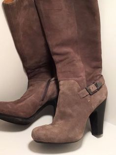 Sofft Womens Felicia Side-Zip Pull-On Buckle Knee-High Tall Heels Boots 10 women #Sofft #FashionCasual