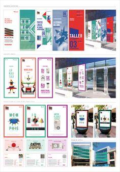 MACBA Identidad / Museum Identity by Mariana Sabattini, via Behance Xbanner Design, Graphic Design Tips, Media Design, Graphic Design Inspiration, Layout Design, Display Design, Dieter Rams, Brochure Design, Branding Design