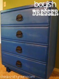 Great color for the nightstand in the kids' room!