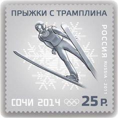 Russian Sochi Olympics stamp, 2014