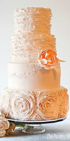Blush Romantic Wedding Cake