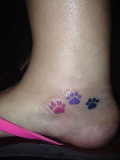 A paw print tattoo for each of my puppies!
