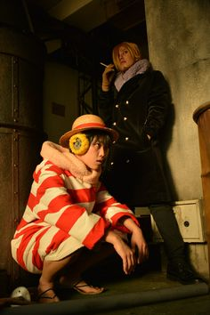 PUNK HAZARD Luffy and Sanji LUFFY by KYOKO SANJI by せつこ Photograph by 国家コーラ