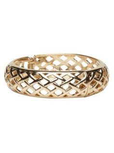 Lattice hinged bangle