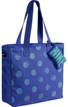 NIKE HANDBAG GRAPHIC POLKA DOT TOTE BAG & CHANGE PURSE DIAPER BAG DUFFLE
