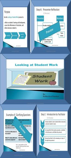 Do you need a best practice idea for a staff development or professional learning team or collaborative inquiry session? This 15-slide, editable PowerPoint with slide notes and instructions outlines an 8-step protocol for improving instruction and looking at student work. It facilitates data-driven decision making about instruction to meet students' needs.  Engage in purposeful, in-depth, and insightful discussions concerning student work, lesson plans, or activities. #staffdevelopment