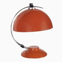 Mid-Century Orange Desk Lamp, 1970s