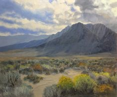 Original 20 x oil painting of Lone Pine area, Whitney Portal Road. California impressionist contemporary fine art of Owens Valley and Eastern Sierra. Oil Paintings, Landscape Paintings, Painting Art, Landscapes, Colorado Street Bridge, Pine Mountain, Lone Pine, Impressionist Landscape, Daily Painters