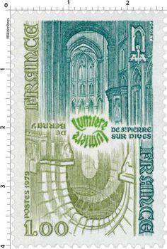 Timbre : 1979 LUMIÈRE DE BERNAY LUMIÈRE DE ST-PIERRE SUR DIVES | WikiTimbres
