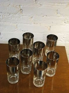 Set of Dorothy Thorpe Glasses | From a unique collection of antique and modern barware at http://www.1stdibs.com/furniture/dining-entertaining/barware/