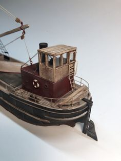 HO Scale Steam Freighter Kit, Waterline Hull-HO scale Steam Freighter These small but rugged coastal freighters, called Clyde Puffers, were built from the through 1920 to carry freight into and around the coastal w Wooden Boat Kits, Wooden Boats, Ho Trains, Model Trains, Utility Boat, Model Boat Plans, Plywood Boat Plans, Tug Boats, Model Train Layouts