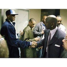 7361e7075ccd Young LeBron James meets Michael Jordan in 2003