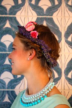 Lavender Chaplet Lavender, Hearts, Hair Styles, Fashion, Wedding, Hair Plait Styles, Moda, Fashion Styles, Hair Makeup