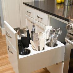 Creative Utensil Storage - traditional - Kitchen - Portland - Kirstin Havnaer, Hearthstone Interior Design, LLC