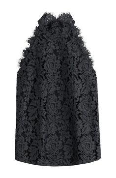 DIANE VON FURSTENBERG Lace Halter Top. #dianevonfurstenberg #cloth #sleeveless