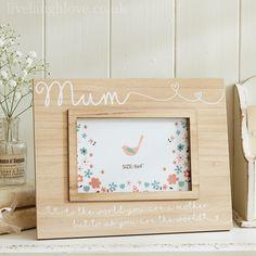 Natural Wooden Family Frame - Mum