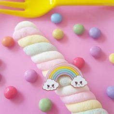 Kawaii Cloud rainbow enamel pin