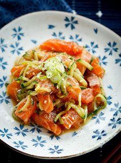 Marinated Salmon Sashimi Salad