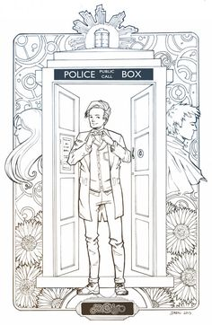 Doctor who tardis fun crafts pinterest tardis adult for Doctor who coloring pages for adults