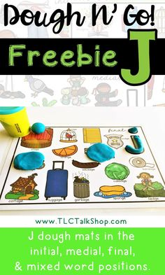 FREEBIE! Working on J sound? Grab this freebie and have some fun with play dough!