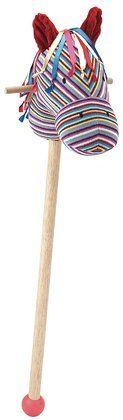 Caballito de madera multicolor