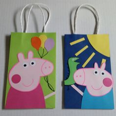 Peppa Pig & George Party Favor/Gift/Goodie Bags! by PartyRockinEvents on Etsy https://www.etsy.com/listing/242163335/peppa-pig-george-party-favorgiftgoodie