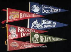 Vintage Brooklyn Dodgers Pennants