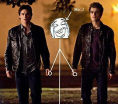 OK Last one, I promise. A never before seen pic of me and the Salvatore brothers :)