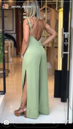 Chiffon Pants, Ball Gowns Evening, Look Fashion, Womens Fashion, Jumpsuit Pattern, Classy Casual, Spaghetti Strap Dresses, Satin Dresses, Diy Clothes