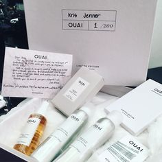 Well who else did you think was going to get the very first one????  congrats to @jenatkinhair and her exciting new collection @theouai I'm so proud of you!!!!! #ouai #proudmama #theOUAI.com #krisjenner #krisisms