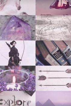 Lavender aesthetic | Fantasy book inspiration | Archer girl | Crystals & amethyst