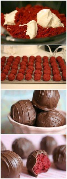 cake pops   roser teig, glasur aus schokolade