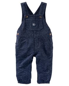 OshKosh BGosh Baby Boys Plaid Flannel Lined Patch Overalls Denim//Red