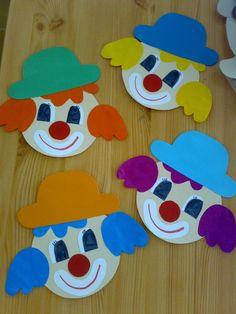 Picture Result For Art With Children Elementary School Clowns Clown Crafts, Circus Crafts, Carnival Crafts, Fun Crafts, Diy And Crafts, Circus Art, Arts And Crafts For Teens, Art For Kids, Crafts For Kids