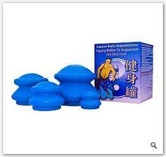 Bańki chińskie gumowe na cellulit - masaż akupunktura banka gumowa na cellulit 4 różne rozmiary Roche Posay