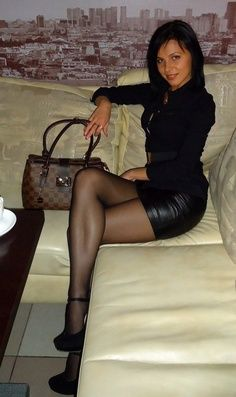 Pantyhose high heels and Black
