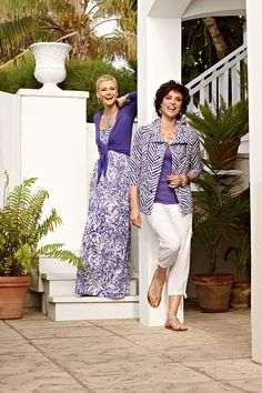 Purple, white, and silver – a stunning combination! #chicos