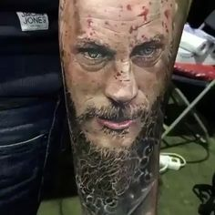 Incredible #Ragnar piece done by @michaeltaguet using the Spektra Edge X. #fkirons #fkironsfamily #vikings #viking