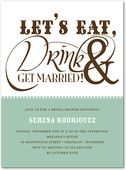 just such a cute invite! Get Married:Basil