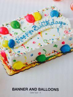Birthday sheet cake