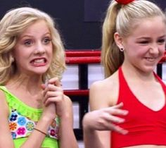 Paige and Chloe's silly faces