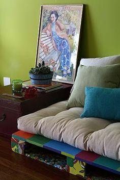 Uai, passa lá em casa!!!: Ideias pro meu sofá de palete