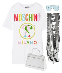 """""""Untitled #26"""" by nelaantonella ❤ liked on Polyvore featuring Moschino, Balenciaga, Hermès and Christian Dior"""