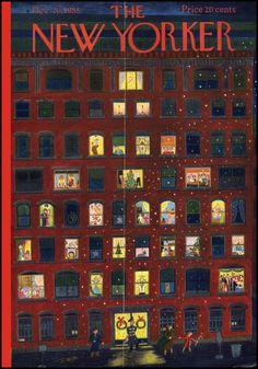 The New Yorker December 1953 | Ilonka Karasz via THE JUMPING FROG