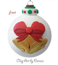 Christmas Bells ornament by ClayArtbyDaresa on Etsy